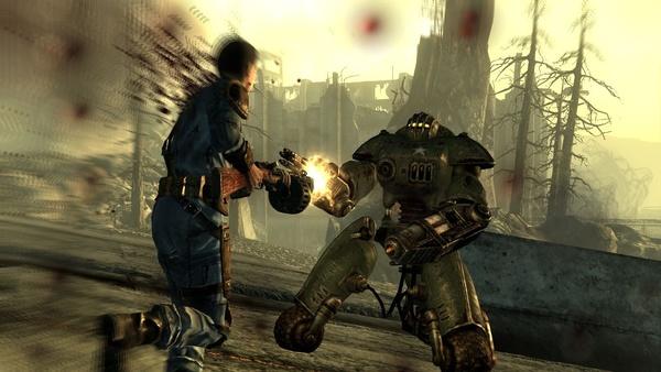 Fallout 3 : In den postnuklearen USA gehören Roboter zum Alltag, von kleinen Flugdrohnen bis hin zum mannshohen Wachdroiden. Die gut gepanzerten Maschinen sind mit normalen Waffen kaum zu verwunden.