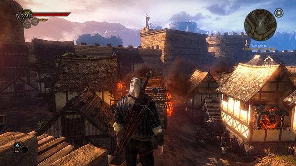 The Witcher 2: Assassins of Kings : Bis auf weniger Gras im rechten unteren Bildrand muss auch in den mittleren Einstellungen auf nichts verzichtet werden.