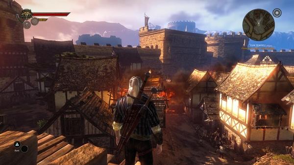 The Witcher 2: Assassins of Kings : Mit niedrigen Details nimmt die Texturschärfe weiter ab.