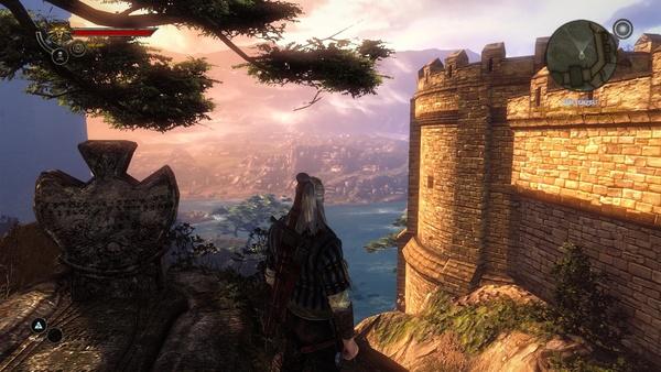 The Witcher 2: Assassins of Kings : ...und hohen Details sind in dieser Szene kaum auszumachen.