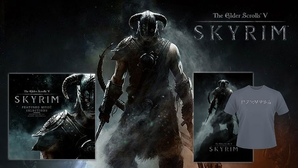 Nvidia-Skyrim-Schnitzeljagd : 4x ein Skyrim-Paket mit offiziellem Soundtrack (CD), T-Shirt und Poster.