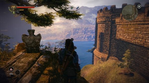 The Witcher 2: Assassins of Kings : Auf der Konsole sind die Texturen am Grabstein wieder deutlich schärfer. Der Hang rechts im Bild ist hingegen kaum wiederzuerkennen.