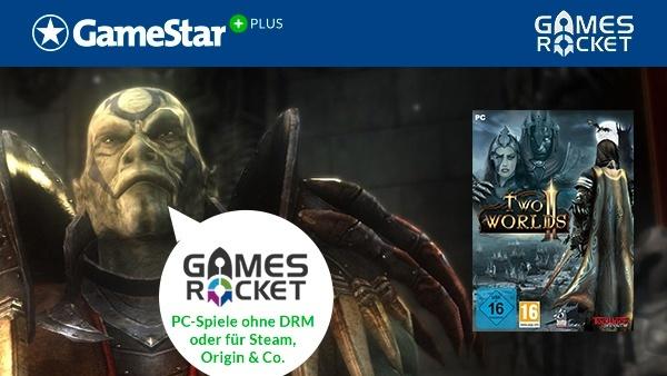 Two Worlds 2 gratis bei GameStar Plus : Stundenlanger Spielspaß ist GameStar Plus-Mitgliedern im August mit der neuen Download-Vollversion Two Worlds 2 von Gamesrocket.de sicher.