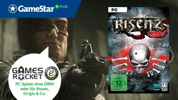 Risen 2 gratis bei GameStar Plus : Bei GameStar Plus gibt's regelmäßig Download-Gutscheine für PC-Spiele von Gamesrocket.de, dem deutschen Spiele-Shop mit Geld-zurück-Garantie - zu Weihnachten Risen 2.