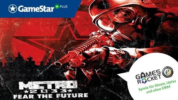 Metro 2033 bei GameStar Plus : Mit GameStar Plus und Gamesrocket gibt es jeden Monat kostenlos eine neue Vollversion. Dieses Mal schicken wir Sie in die Tiefen der Moskauer Unterwelt einer post-apokalyptischen Welt.