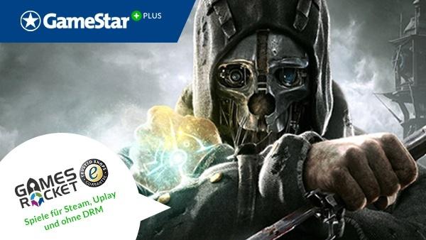 Dishonored – Die Maske des Zorns : Mit GameStar Plus und Gamesrocket gibt es jeden Monat eine neue Gratis-Vollversion. Im Monat November begeben Sie sich auf einen Rachefeldzug in »Dishonored – Die Maske des Zorns«!