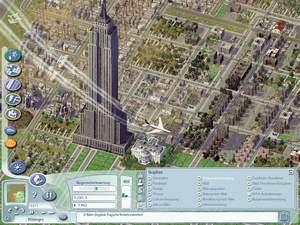 Sim City 4 : Fürs Empire State Building und das Weiße Haus sind unsere ganzen Ersparnisse draufgegangen. Doch der nahe liegende Flughafen wird die Industrie ankurbeln und so neues Geld in die Kassen spülen.