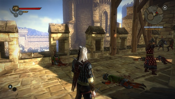 The Witcher 2: Assassins of Kings : In niedrigen Details sind die Texturen deutlich unschärfer.
