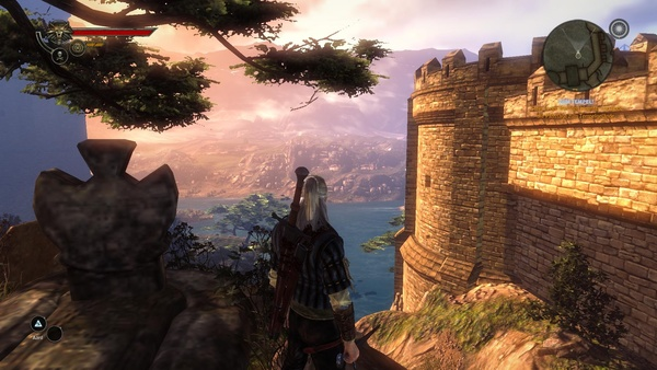 The Witcher 2: Assassins of Kings : Textur-Matsch anstatt filligraner Grabinschrift in niedrigen Details.