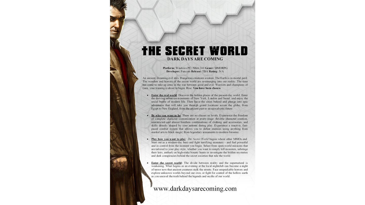 The Secret World - Factsheet
