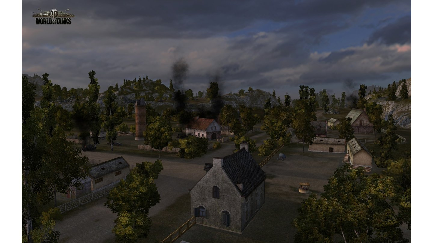 World of TanksScreenshots von der Cliff-Karte aus dem Online-Panzer-Spiel World of Tanks.