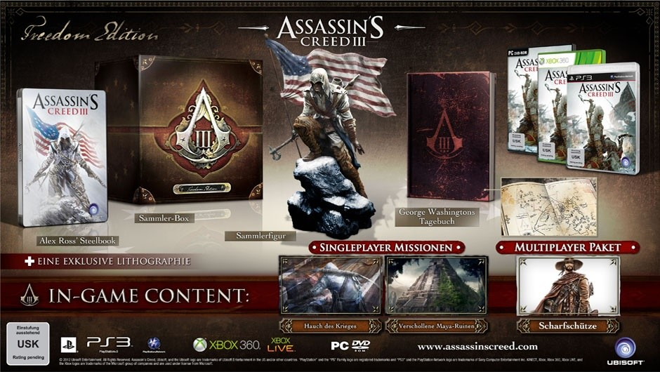 Assassin's Creed 3 - Freedom Edition :