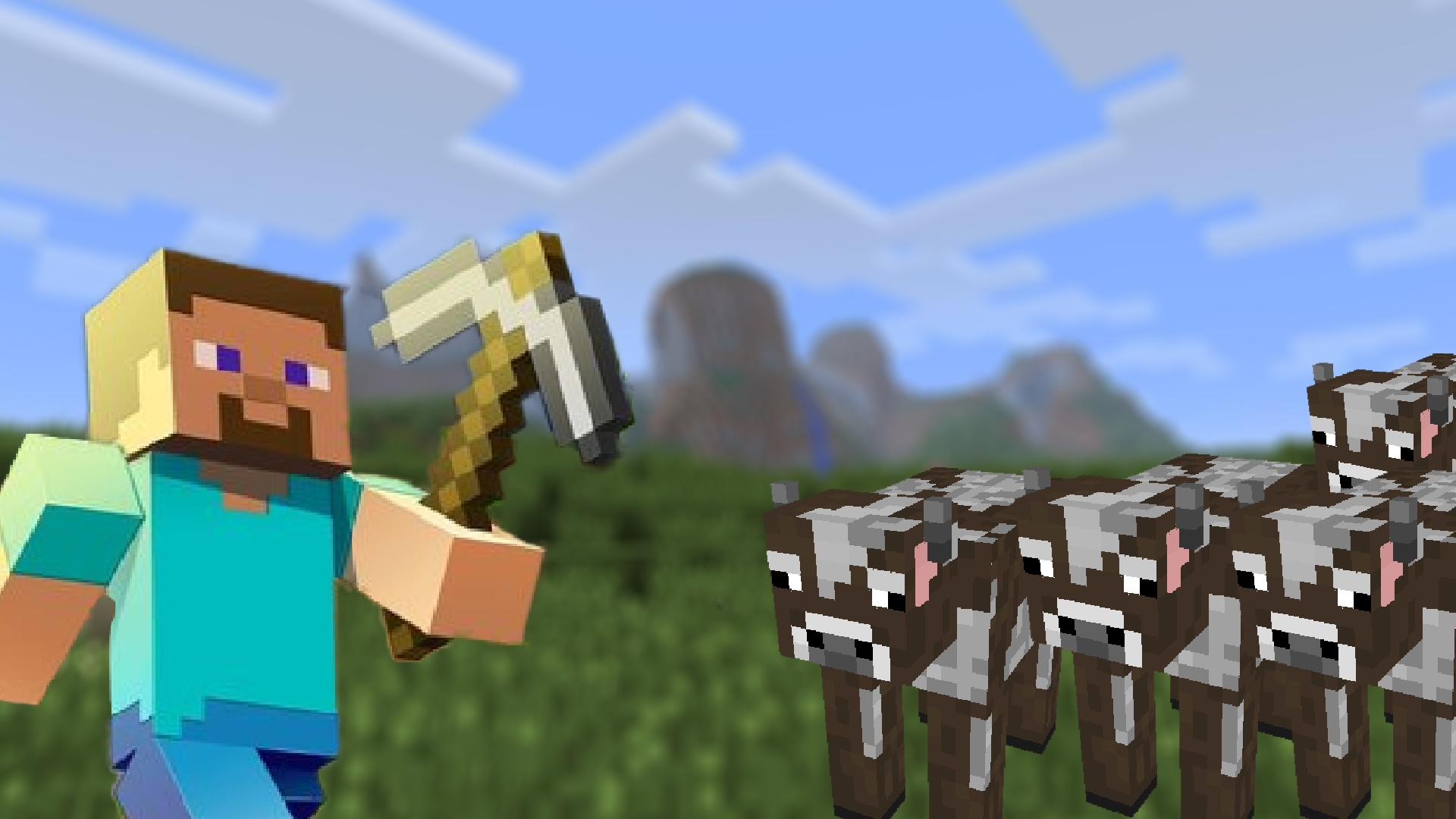 Minecraft: 100 cows and a rowboat are causing enthusiasm