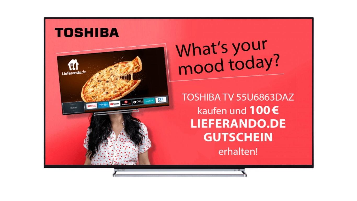 Toshiba 20 Zoll UHD TV und 20 Euro Lieferando Gutschein bei ...