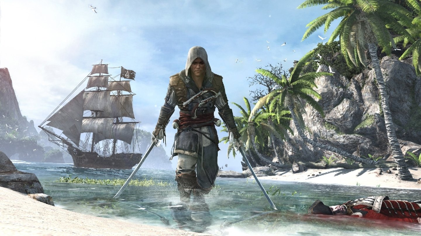 Assassin's Creed 4: Black FlagIn Assassin's Creed 4: Black Flag werden wir zum Piraten.