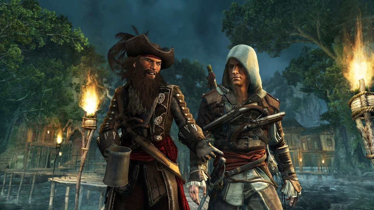 Assassin's Creed 4: Black FlagSo ganz will die Assassinen-Kluft nicht in die Piratenwelt passen.