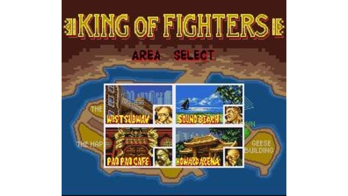 You can select the location (and opponent) of your first fight. After that the computer makes the choices