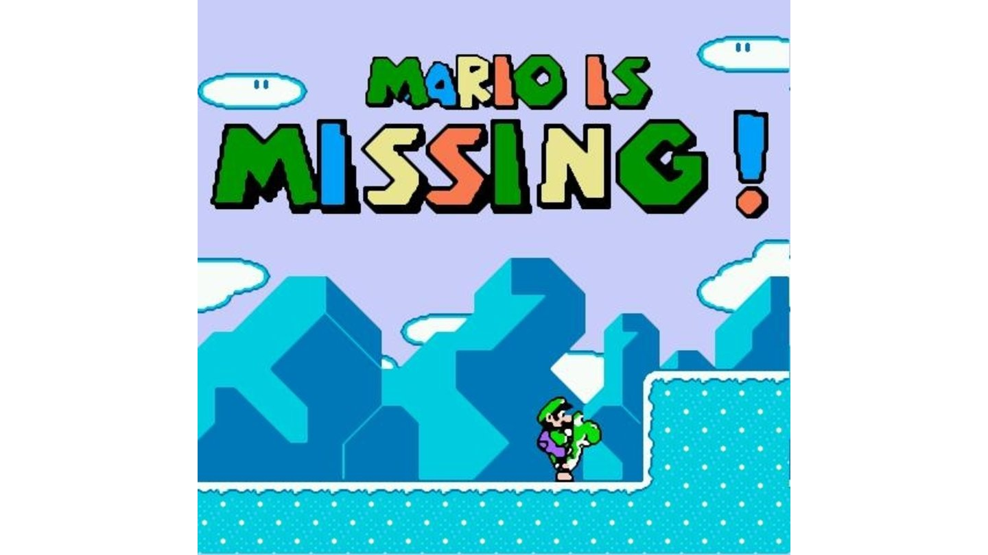 Well... if Mario is Missing, I guess it's all up to Luigi then...