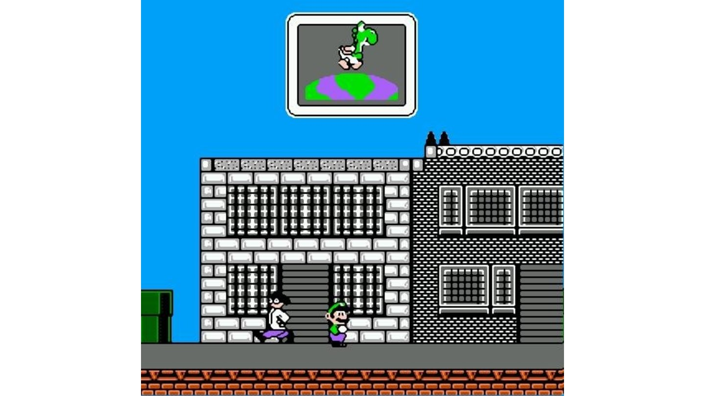 This is what gameplay looks like... a lone plumber on a city street. If you know where you are, you can call Yoshi to give you a ride for faster speeds!