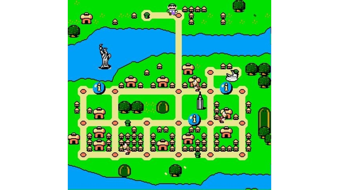A map of each city will help you get your bearings and find koopas as well as tourist attractions
