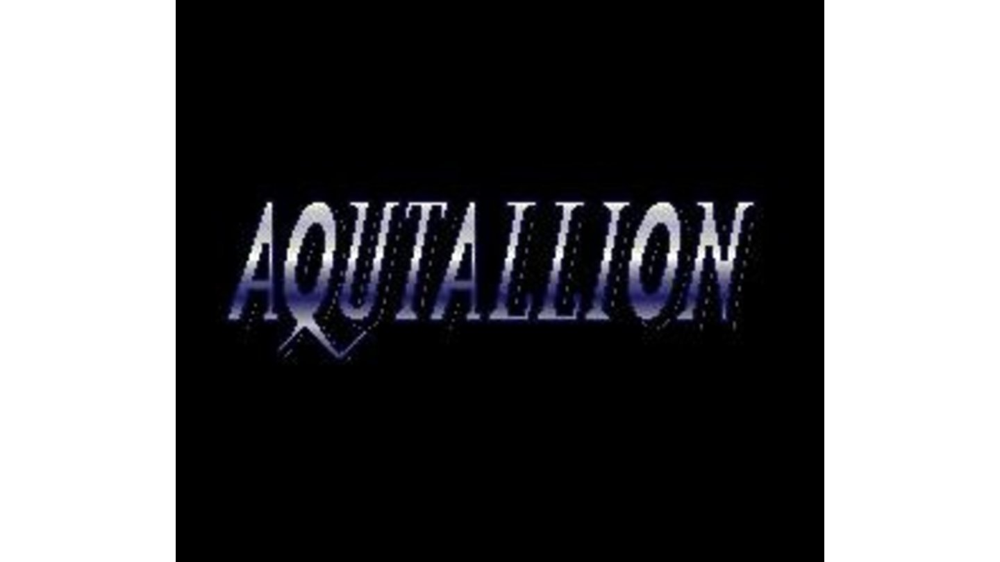 Japanese title screen. Note the spelling: AQUTALLION instead of Aquitallion