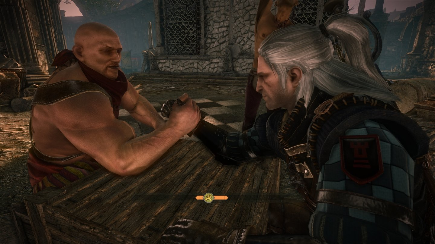 The Witcher 2: Assassins of Kings... oder bestreitet Armdrück-Wettbewerbe.