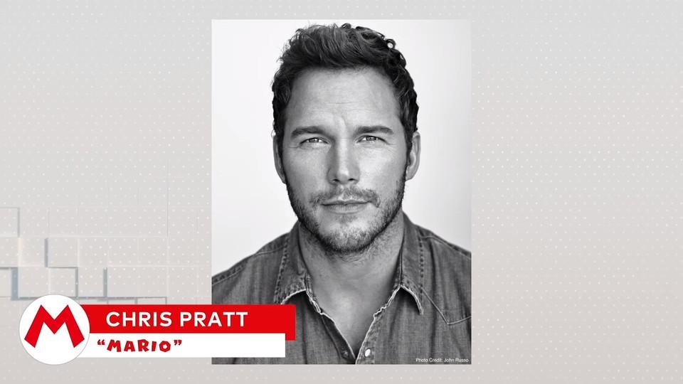 Chris Pratt parla/parla Mario.