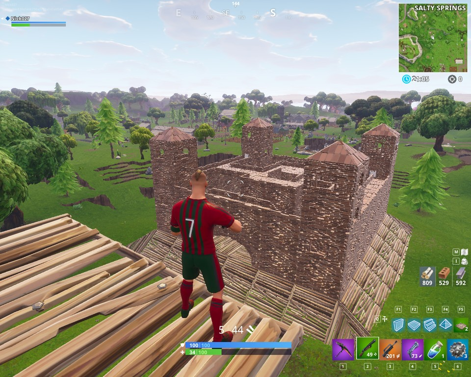 Ein echtes Fort in Fortnite! (reddit.com/user/Nick2700)
