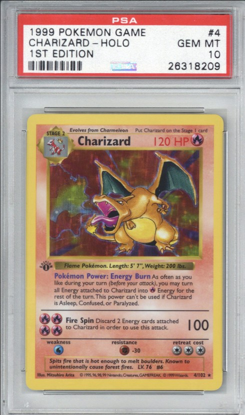1st Edition-Pokémon-Karte Charizard/Glurak (Bild: Goldin Auctions)