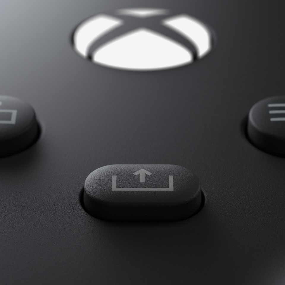 Xbox Series X/S-Controller: Der Share-Button.