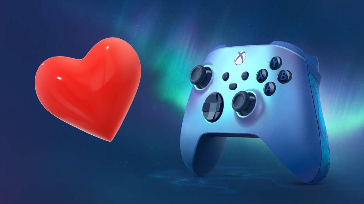 """Xbox Series X/S-Controller """"Aqua Shift"""" schimmert und hat gummierte Griffe"""